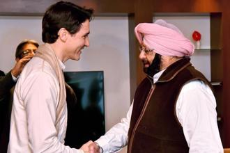 Justin Trudeau would have realised that Punjab chief minister Amarinder Singh was speaking in the same tone that was repeated at Delhi. Photo: PTI