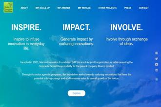 A screen grab of Marico Innovation Foundation website