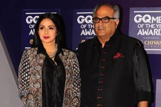 Sridevi and Boney Kapoor were in Dubai to attend nephew Mohit Marwah's wedding. Photo: AFP