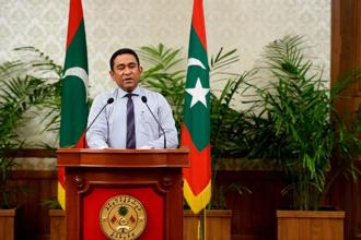 There was a spectacular intelligence failure in that New Delhi seems to have been caught off guard by Maldives President Abdulla Yameen's actions. Photo: AFP