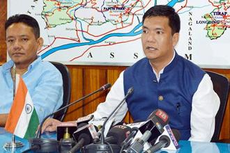 Arunachal Pradesh chief minister Pema Khandu. Prime Minister Narendra Modi is serious about the boundary dispute between North East states, so is Sonowal, Assam irrigation minister Ranjit Dutta said. File photo: PTI
