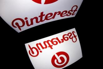 Pinterest makes money from selling ads that appear in its application, which lets people search for, post and save images. Photo: AFP