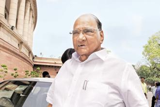 NCP chief Sharad Pawar rationalized creation of a new category of farmers on economic grounds. File photo: HT