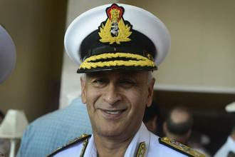 A file photo of Indian Navy Chief Admiral Sunil Lanba. Photo: Abhijit Bhatlekar/Mint