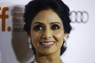 A file photo of actor Sridevi. She died in Dubai on Saturday. Photo: AP