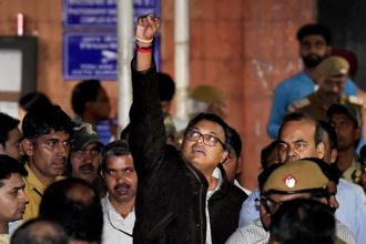 Karti Chidambaram leaves Patiala House Courts after he was remanded to five-day CBI custody in the INX Media case in New Delhi on Thursday. Photo: PTI