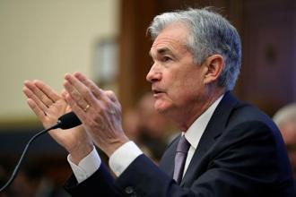 Jerome Powell's testimony means that US real rates are headed higher. Photo: AFP
