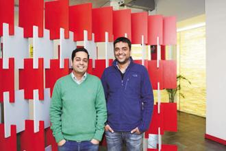 Zomato was founded in 2008 by Pankaj Chaddah (left) and Deepinder Goyal. Photo: Ramesh Pathania/Mint