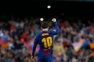 Lionel Messi's 600th career goal proved the difference between Barcelona and Atletico Madrid as the Catalans took home all three points at the Camp Nou. Photo: AFP