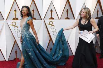'Get Out' star Betty Gabriel during the 90th Academy Awards ceremony in California on Sunday. Photo: Reuters