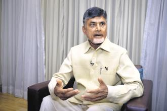 Andhra Pradesh chief minister Chandrababu Naidu. The Andhra Pradesh government has been demanding a special category status (SCS) for the state, and Congress president Rahul Gandhi has lent support to the cause. Photo: Abhijit Bhatlekar/Mint