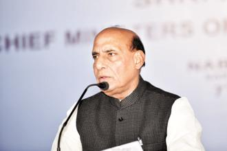 A file photo of Union home minister Rajnath Singh. Photo: Photo: Indranil Bhoumik/Mint