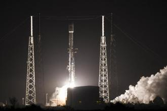 The satellite weighs six tonnes and is almost the size of a city bus, making it the largest geostationary satellite that SpaceX has taken into space. Photo: AP