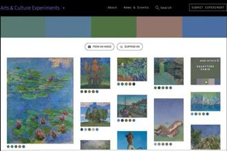 Google's Color Palette can help art enthusiasts identify art works with similar colour palettes.