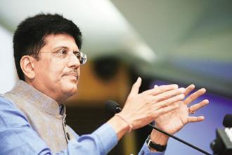 Railway minister Piyush Goyal. The reverse e-auction plan for railway tenders will apply to all zonal railways, production units and railway companies like IRCTC, Rites Ltd, RailTel and others. Photo: Ramesh Pathania/Mint