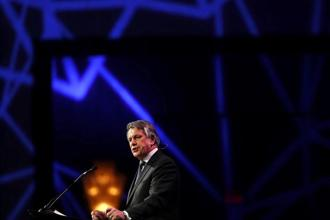 Speaking at the CERAWeek conference, Shell CEO Ben van Beurden outlined an ambitious plan to reduce the Anglo-Dutch company's carbon footprint. Photo: Bloomberg