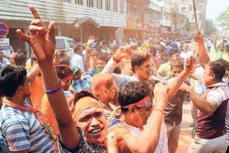 The Tripura elections are important because this is the first time the BJP has stormed a Red bastion. Photo: PTI