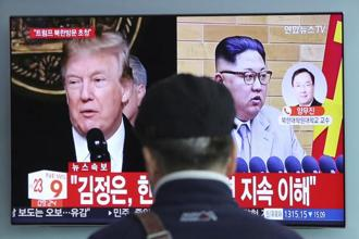 A meeting between Kim Jong Un and Donald Trump would be a major turnaround after a year in which North Korea has carried out a battery of tests aimed at developing a nuclear missile capable of hitting the US mainland. Photo: AP