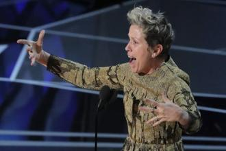 When Frances McDormand got up on stage to accept the Oscar for best performance by an actress in 'Three Billboards Outside Ebbing, Missouri', she set social media abuzz with her makeup-free face. Photo: Reuters