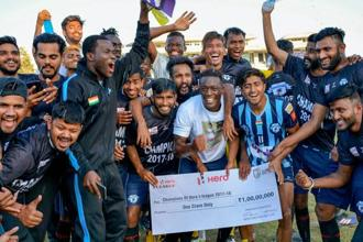 Minerva Punjab Football Club beat Churchill Brothers 1-0 to win the I-League on Thursday, bringing the trophy back to the north for the first time since JCT Football Club had won it back in 1996-97. Photo: PTI