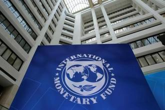 The International Monetary Fund logo is seen during the IMF/World Bank spring meetings in Washington. File Photo: Reuters