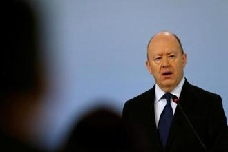 A file photo of Deutsche Bank CEO John Cryan. Nippon Life Insurance Co. has agreed to acquire a 5% stake in DWS in the IPO at the issue price of €30 to €36 a share. Photo: Reuters