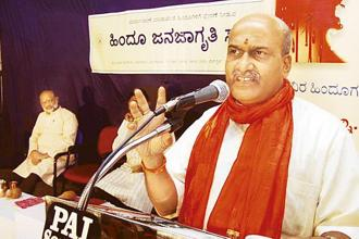 File photo. Pramod Muthalik, the chief of Hindu fringe group Sri Rama Sene, said that the group had done nothing wrong and the incident had brought in a lot of awareness about the growing pub, bar and club culture. Photo: Hindustan Times