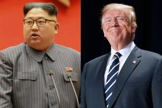 US President Donald Trump repeatedly warned of military action to stop North Korean leader Kim Jong Un's nuclear weapons development. Photo: AFP