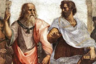 Plato and Aristotle in a detail from the painting 'The School Of Athens' by the Italian Renaissance artist Raphael. Photo: Wikimedia Commons