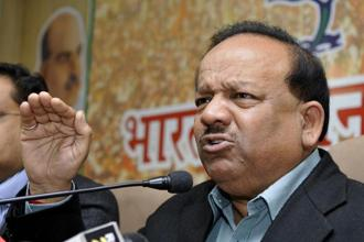 Harsh Vardhan, union minister for science and technology. Photo: PTI