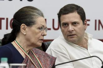 Rahul Gandhi said anger is being spread in the country, it is being divided and one person is being put against another. A file photo of Rahul, Sonia Gandhi. Photo: PTI