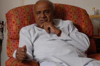 JD(S) chief and former Prime Minister H.D. Deve Gowda. Photo: Hemant Mishra/Mint