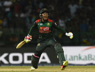 Mushfiqur Rahim scored 72 in 35 balls comprising four sixes and five fours to win a key game against hosts Sri Lanka in the recent Nidahas T20 tri-series. Photo: AFP