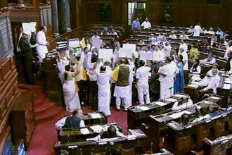 Rajya Sabha hasn't transacted any substantial business since the Budget session of Parliament resumed on 5 March. File photo: PTI