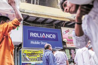 On Wednesday, RCom shares rose 8.86%, or Rs2.05, to Rs25.20 on BSE while the benchmark Sensex gained 0.42%, or 139.42 points, to end the day at 33,136.18. Photo: Bloomberg
