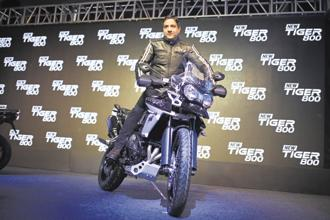 Triumph Motorcycle India MD Vimal Sumbly at the launch of the new Triumph Tiger 800 on Wednesday. Triumph imported close to 90% of the models it sold in India from Thailand until 2016 when it flipped its assembly operations on their head to assemble over 90% of its bikes locally at its Manesar facility.