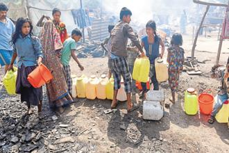 India's water scarcity poses a threat to its economic development as well as its political stability. Photo: AFP
