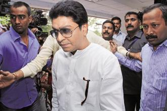 At a rally in Mumbai on Gudi Padwa last week, MNS chief Raj Thackeray called for unity among all anti-BJP forces for a Modi-mukt Bharat. File photo: HT