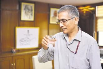 Parameswaran Iyer, secretary in the ministry of drinking water and sanitation and an erstwhile World Bank expert on water-related issues. Photo: Pradeep Gaur/Mint