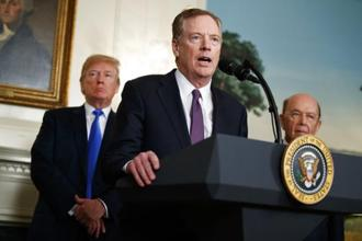 """India has a substantial trade surplus with the US and they have a system which is not particularly open,"" Robert Lighthizer said. Photo: AP"