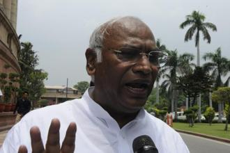 Congress leader Mallikarjun Kharge wrote to the secretary general of the Lok Sabha on Friday informing him of the no-confidence motion against the Narendra Modi government. Photo: HT