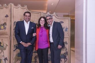(From left to right) Nikhil Khanna, executive chairman, Avian WE, Melissa Waggener Zorkin, chief executive, WE Communications and Nitin Mantri, group CEO, Avian WE.
