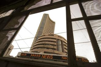 Among Sensex stocks, IndusInd Bank Ltd (up 1.1%) and Power Grid Corp. of India Ltd (0.26%) are in positive terrain. Photo: Mint