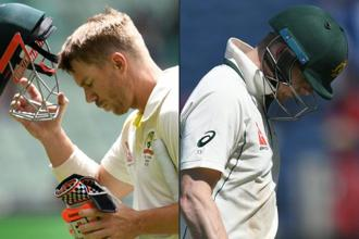 The ban for David Warner (left) and Steve Smith will include all top-level cricket in Australia for the next year. Photo: AFP