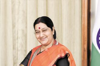 A file photo of external affairs minister Sushma Swaraj. Photo: HT