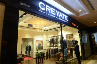 Arvind Ltd launched its first luxury flagship Creyate store in Bengaluru's upscale retail mall, UB City, last week to ramp up revenue generation in its custom-made menswear business. Photo: Hemant Mishra/Mint