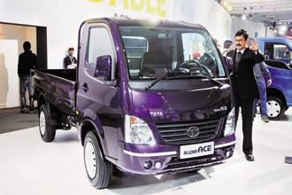 Tata Motors is developing an electric variant of its popular light commercial vehicle Tata Ace that can carry up to 1 tonne. Photo: Ramesh Pathania/Mint