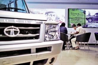 Domestic sales of Tata Motors' commercial vehicles grew by 37% to 49,174 units in March, as compared to 35,876 units in the same month previous year. Photo: Bloomberg