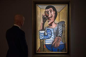 The Picasso self-portrait, 'Le Marin', will be on view in Hong Kong until 3 April. It will go under the hammer in New York on 15 May as part of a sale of Impressionist and Modern Art by Christie's. Photo: AFP