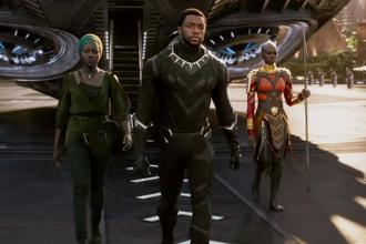 A still from Marvel's 'Black Panther'.